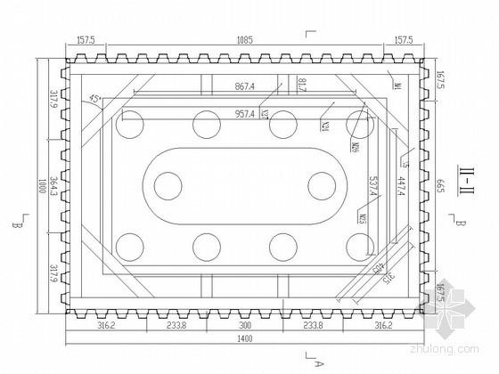 桥梁深水基础钢板桩围堰计算书(附结构图)