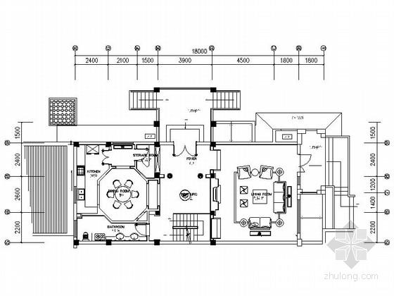 [海南]独栋别墅高档区简欧三层别墅样板间装修施工图(含效果)