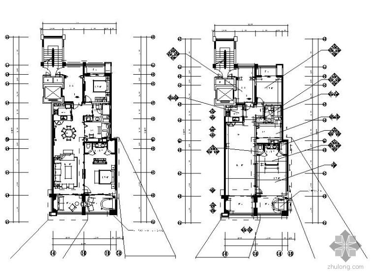 某欧式精装三居室内装修图