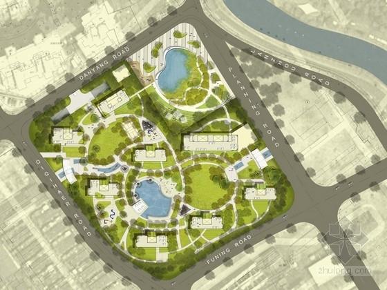[上海]人文主义标志性居住区景观规划设计方案