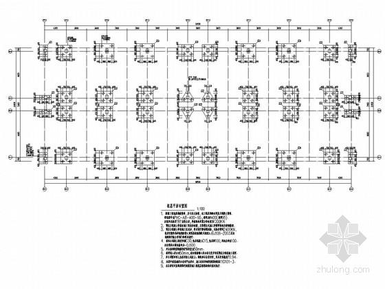六层框架结构高中宿舍楼结构施工图