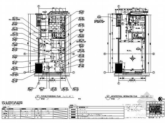 [重庆]会展中心五星酒店标准双床样板房室内装修施工图