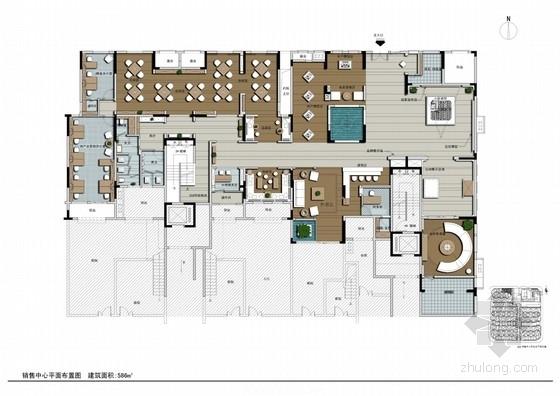 [重庆]著名房地产高档现代销售中心室内装修设计方案