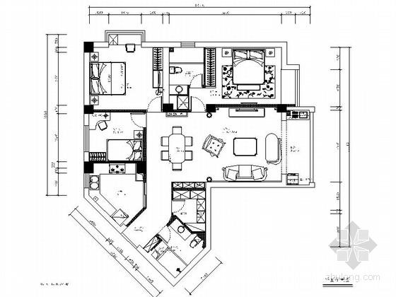 [宁波]风光极佳欧式新古典三居室样板间装修图