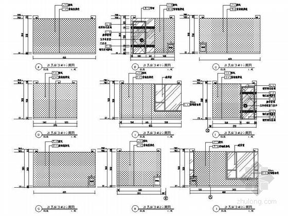[北京]原创综合医药研究院典雅中式医院装修施工图(含效果)男宾诊区立面图