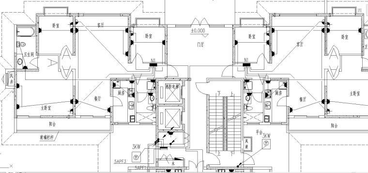 某33层住宅电气施工图(强电)