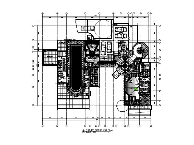 [浙江]1500平米总裁别墅顶级设计全套施工图(含效果图}