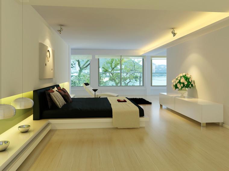 简洁清新卧室3D模型下载