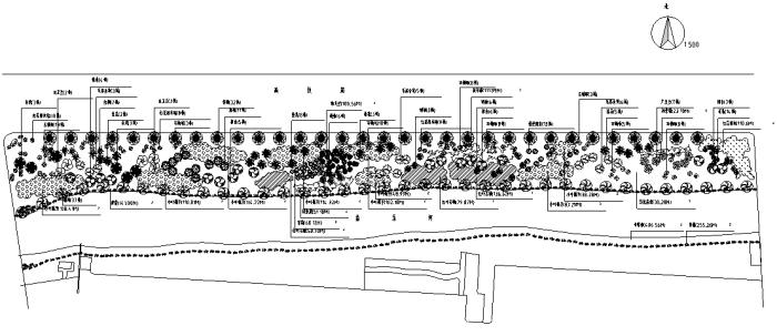 某河岸绿化施工图