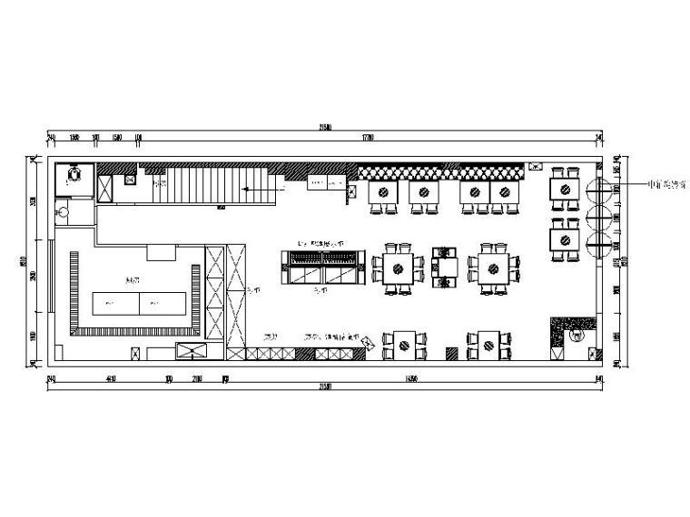 [重庆]现代时尚个性火锅店室内设计施工图(含效果图)