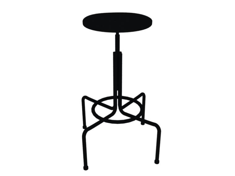 简洁吧椅3D模型下载