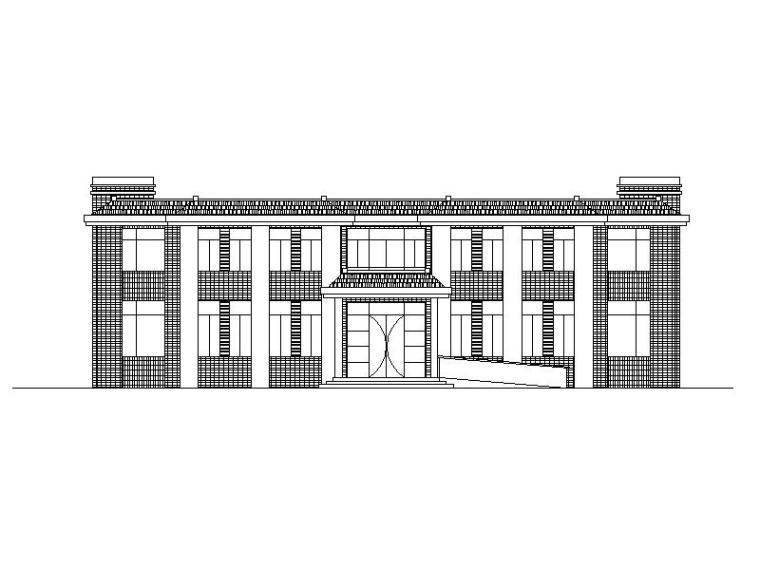 [宁夏]现代贴砖立面厂区综合楼及门卫室施工图