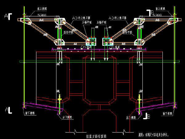 跨江160m连续钢构特大桥菱形挂篮悬浇段施工方案69页附20张CAD图纸