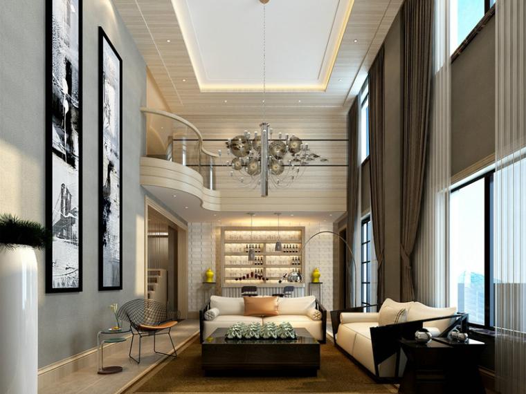 明亮别墅客厅3D模型下载