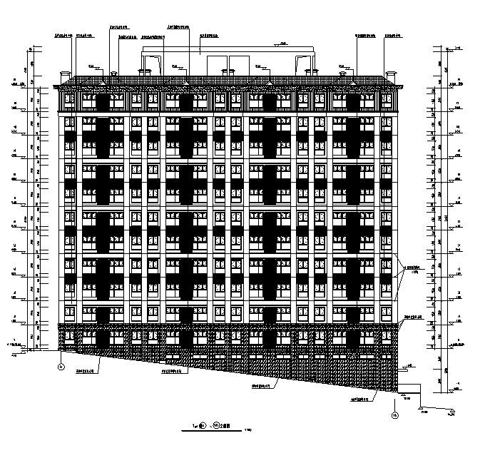 [深圳]高层倾斜地面住宅及配套公建建筑施工图(含多栋及地下室)