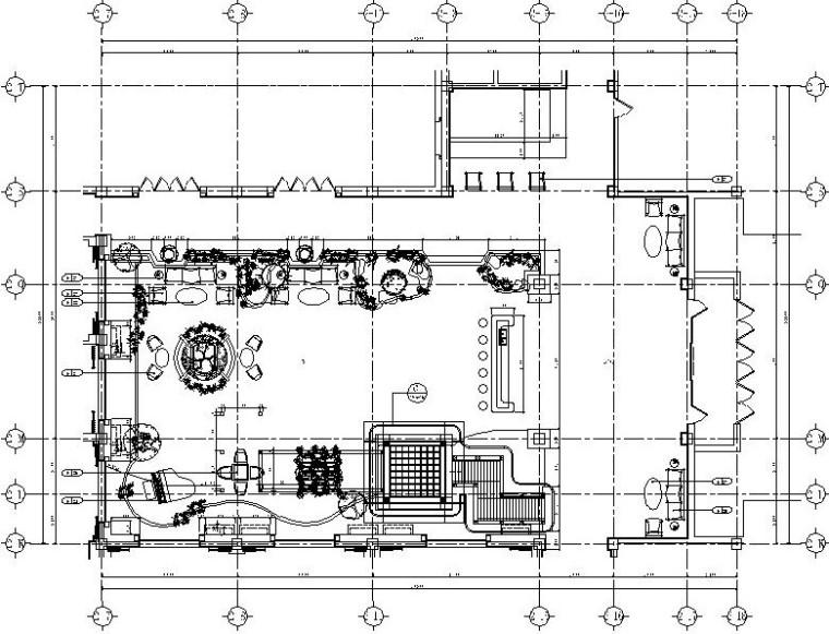 某星级宾馆四季厅全套施工图(附实景照片+效果图)