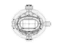 邵阳体育中心体育场sbf123胜博发娱乐结构施工图(钢屋盖、看台及基础)