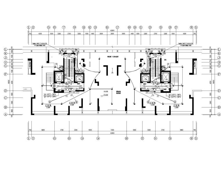 [浙江]鹿山广场公寓室内装修CAD施工图