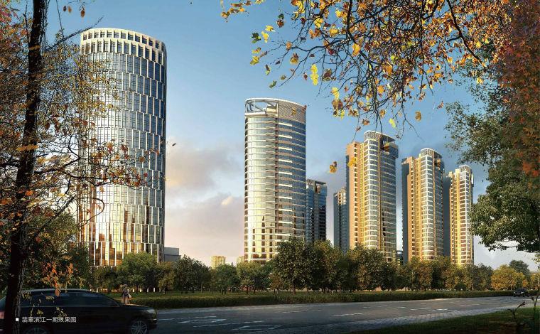 上海浦东铜山街万科·翡翠滨江豪宅一期入口高层售楼处建筑模型(2018年)