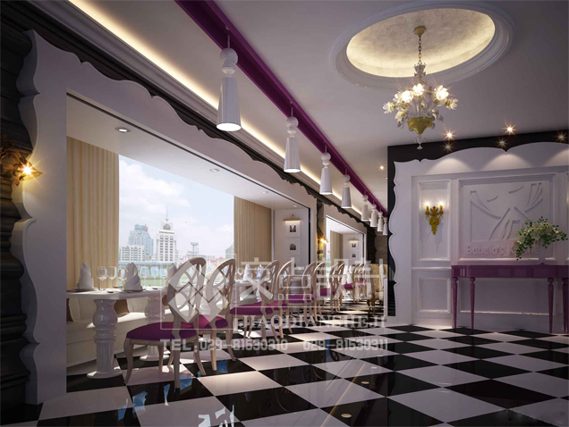 [交点设计]不一样的咖啡厅设计色彩