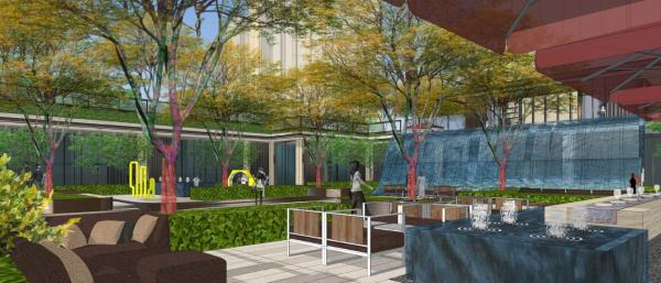 """[天津]""""一廊两翼""""教育示范园住宅社区地块景观设计方案"""