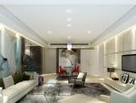 清新中式客厅3D模型下载