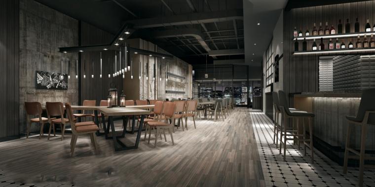 工业风格酒吧3D模型下载