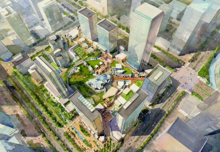[广东]绿地中央广场商业建筑设计方案文本
