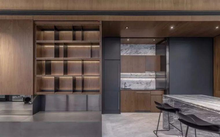 室内设计 130㎡的单身公寓,设计感十足_24
