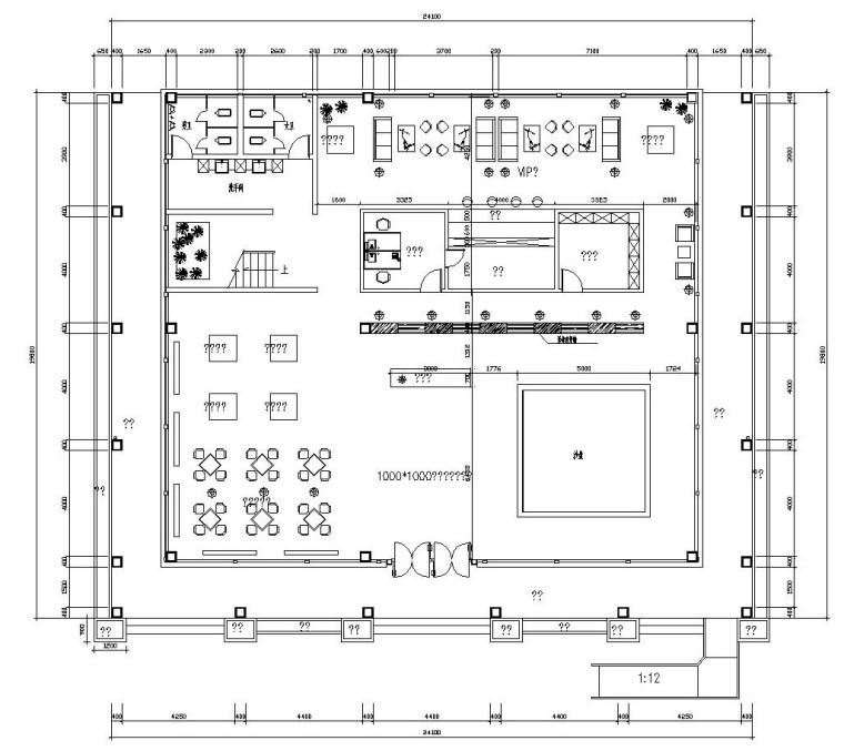 vip休息室平面图资料下载-后现代风格售楼处全套施工图(附效果图)