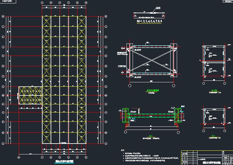 [辽宁]钢排架结构大型汽车展厅结构施工图