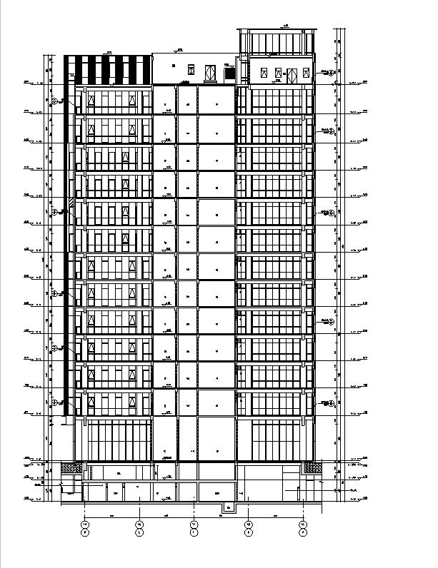 [上海]13栋图纸框剪专业高层讲解全住宅施工图结构高速公路符号建筑钢筋图片