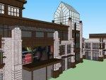 商业街西方新古典4层商业模型