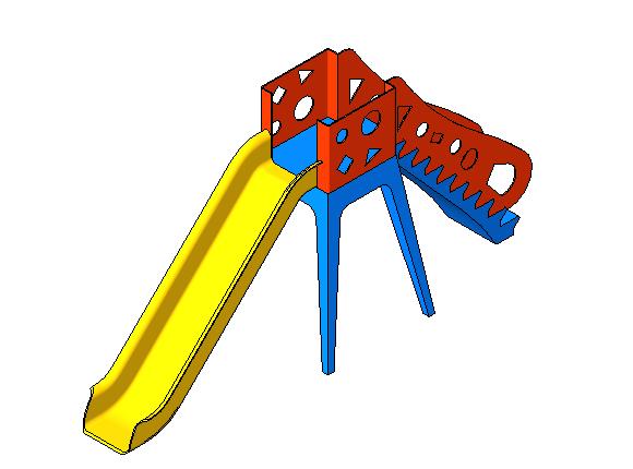 bim软件应用-族文件-儿童滑梯