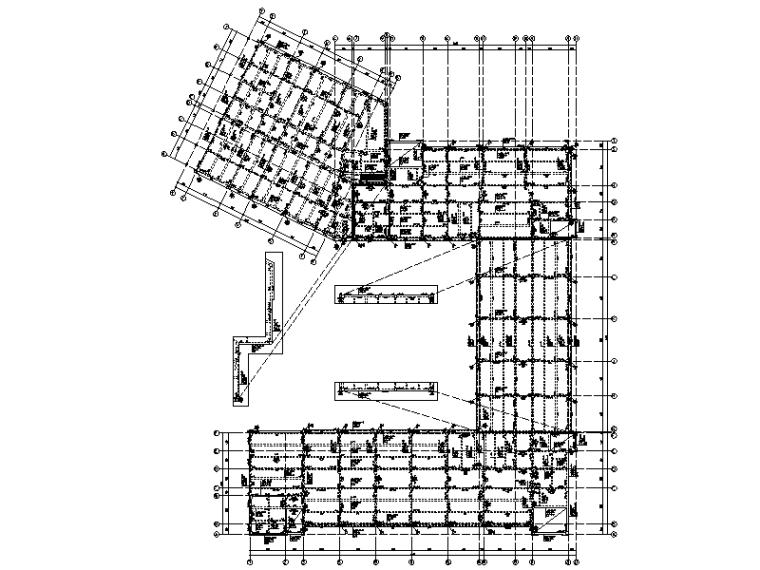 [四川]5层钢混框架结构职业学院教学楼建筑结构施工图(2015)