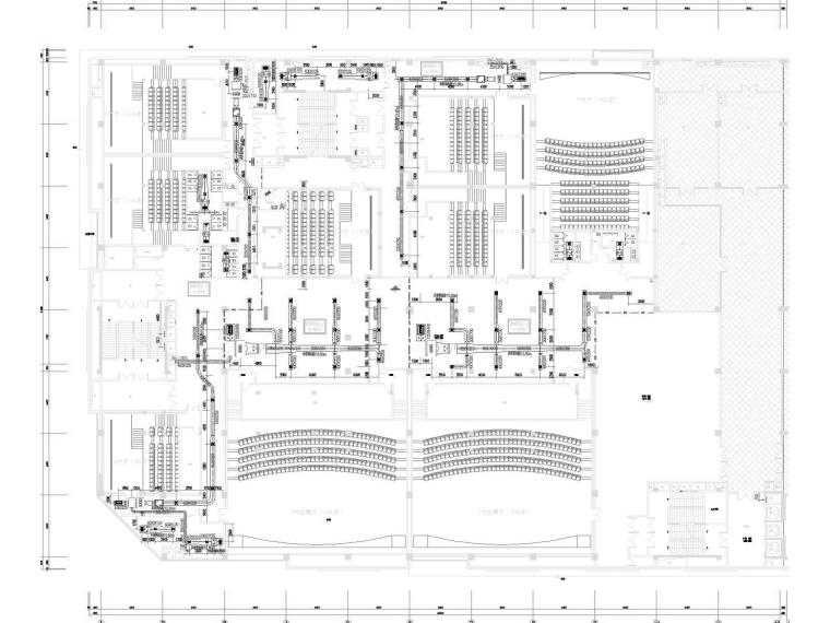 [湖北]多层电影院空调通风及防排烟系统设计施工图(节能设计)