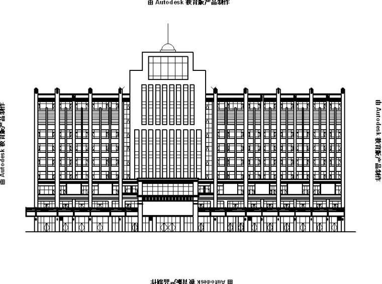 [宁夏]高层现代风格商业综合体建筑施工图(含效果图及计算书)
