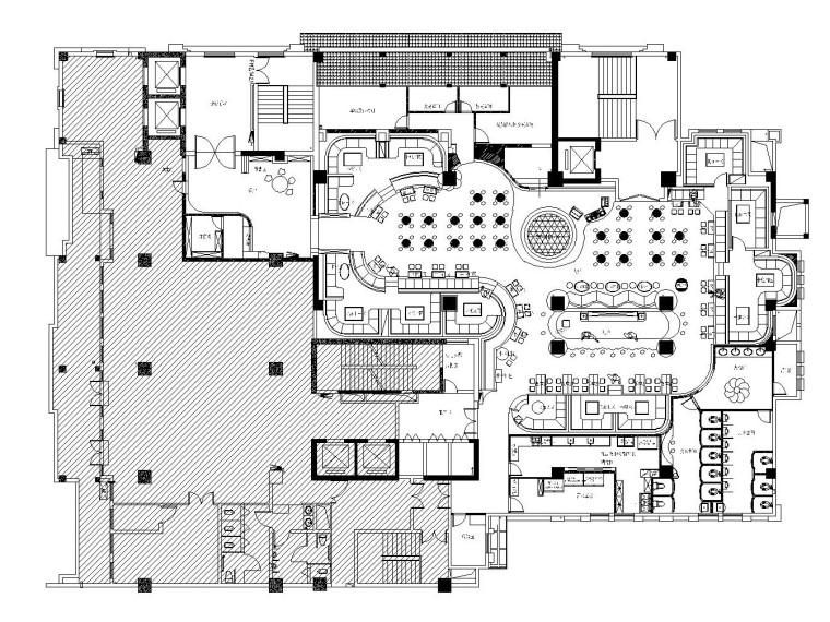 [深圳]后现代风格慢摇酒吧全套施工图+效果图