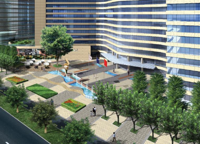[江苏]杭州世贸丽晶城综合商务区景观规划设计文本(PPT+36页)