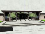国瑞熙野入口大门建筑设计模型(新中式风格)
