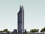厦门航空港大厦(威斯汀酒店)建筑SU模型