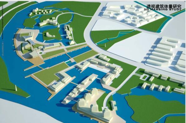 昆山花桥滨江带景观规划设计方案-建筑体量研究