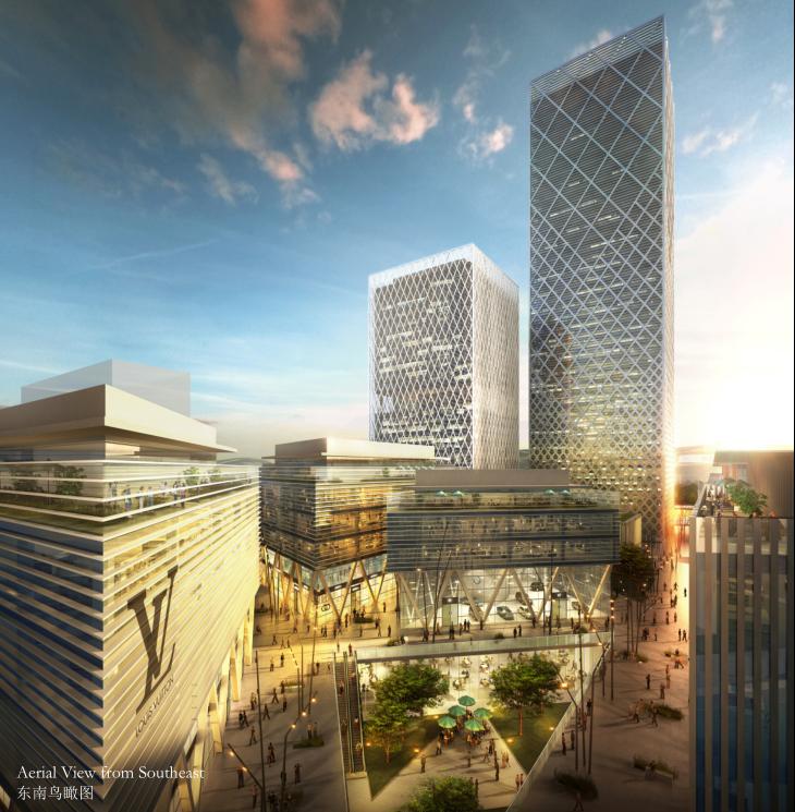 [广东]高层后现代感办公楼建筑方案文本(含厂房、宿舍、商业