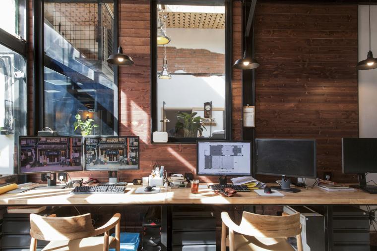 北京北海百年糖房改造-116-办公空间工作区