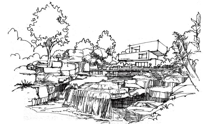 风景园林手绘线稿,可下载打印_4