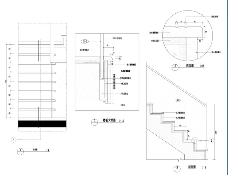 某中式建欧别墅室内装修设计施工图及效果图_3