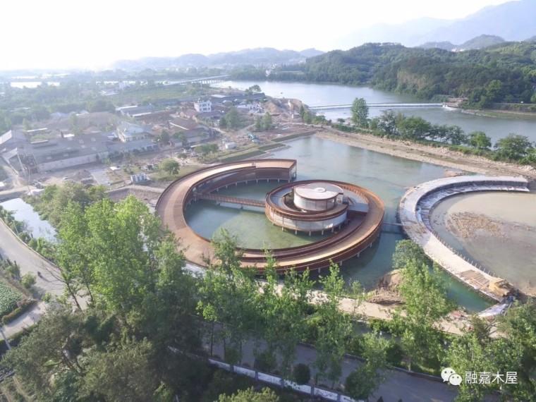 浙江松阳旅游景区曲形大跨度大型木结构独山书院