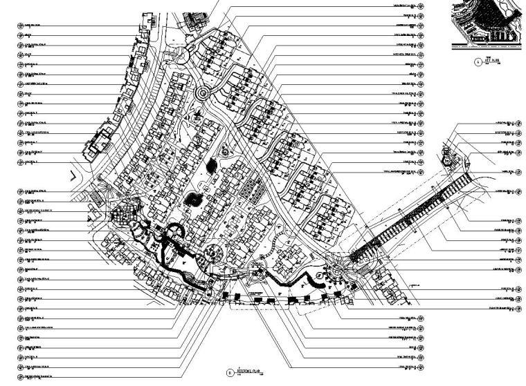 [四川]成都中海名城某居住区景观设计全套施工图(包含+植物配置)