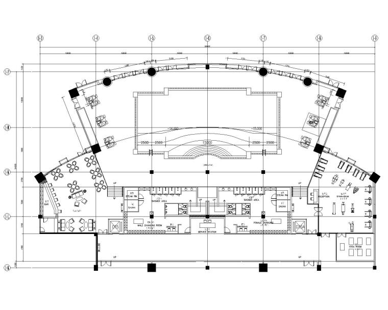 CCD--广东河源东方国际大酒店(一期、二期)整套施工图