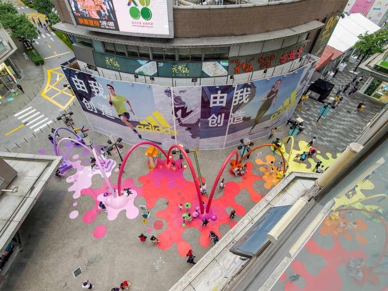 上海PaintDrop互动装置
